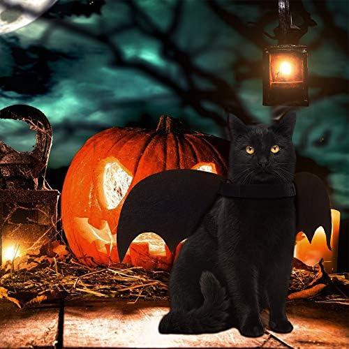 Cat Bat Costume,Halloween Cat Bat Wings for Pets,Cat Halloween Collar Pet Apparel for Small Dogs and Cats,Comfort Material Pet Costume for Halloween (Cat Bat Costume) 18