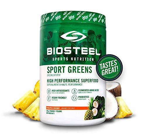 Biosteel Sports Greens - Powdered Greens Antioxidant Superfood, Vegan and Sugar Free, Pineapple Coconut, 30 Servings