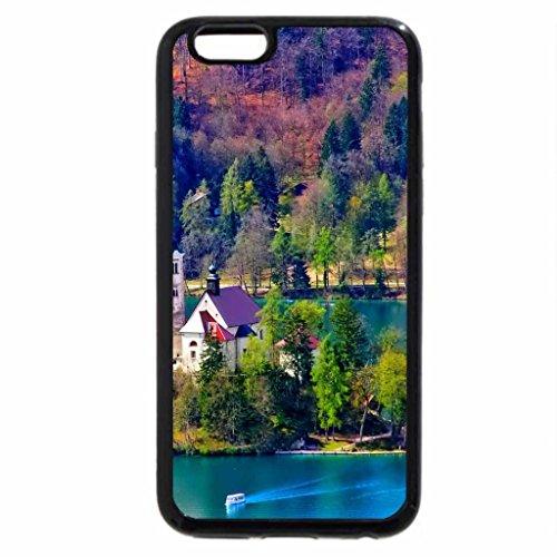 iPhone 6S / iPhone 6 Case (Black) church in a mountain landscape