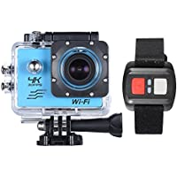 WiFi 4K 1080P 16MP 170 Degrees Sports Action Camera 32GB Memory - Blue