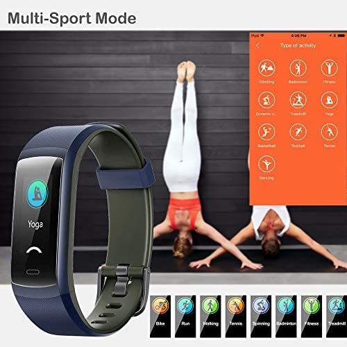 Willful Fitness Tracker, Heart Rate Monitor Activity Tracker Pedometer with Step Counter Sleep Monitor 14 Sports Tracking,Color Screen IP68 Waterproof,Fitness Watch for Men Women Kids 6