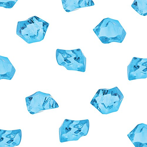 Acrylic Color Ice Rock Crystals Treasure Gems for Table Scatters, Vase Fillers, Event, Wedding, Birthday Decoration Favor, Arts & Crafts (385 Pieces) by Super Z Outlet (Blue) by Super Z Outlet