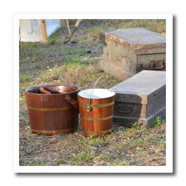 Susans Zoo Crew Florida - Wooden buckets and chests - 10x10 Iron on Heat Transfer for White Material (ht_212459_3)