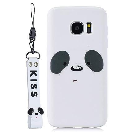 EuCase Funda para Samsung S7 Edge Silicona Dibujos Carcasa Samsung S7 Edge Antigolpes Suave TPU Flexible Goma Ultra Delgada Cubierta Protector Bumper ...