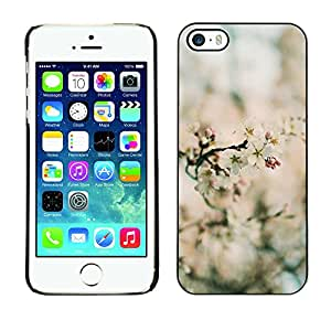Paccase / SLIM PC / Aliminium Casa Carcasa Funda Case Cover para - Spring Blurry Blooming Flowers Plant Green - Apple Iphone 5 / 5S