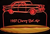 1957 Chevy Belair Acrylic Lighted Edge Lit 13'' LED Sign / Light Up Plaque 57 VVD1 Full Size USA Original