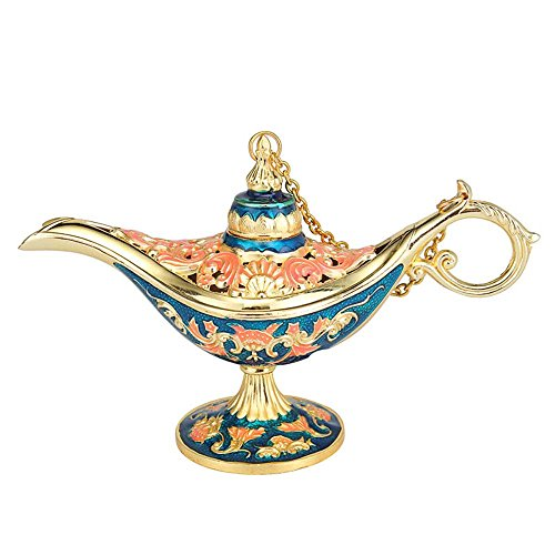 - Fellee Fairy Tale Aladdin Magic Lamps Tea Pot Genie Lamp Vintage Retro Toys for Children Home Decoration Gifts
