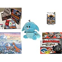 """Children's Gift Bundle - Ages 6-12 [5 Piece] - Race Cards Stock Car Racing Card Game - Mega Bloks Halo UNSC Offworld Cyclops Toy - Neopets Blue Kacheek Plush 6"""" - Classic Fairy Tales Hardcover Book"""