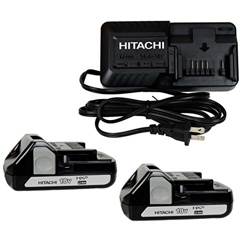 Hitachi UC18YKSL 14.4 -18V Battery Charger & Two BSL1815X 18V Li-Ion Batteries