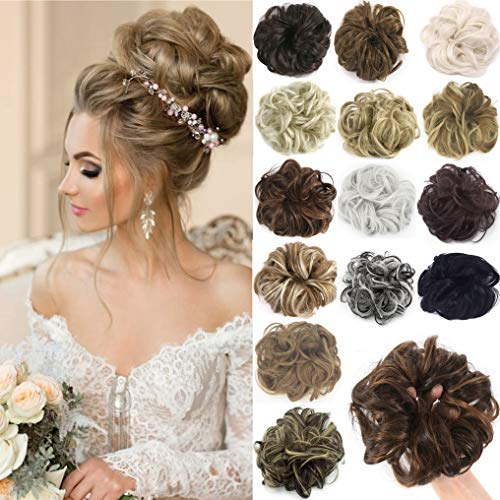 Messy Hair Bun Extensions Chignons Hair Hair Scrunchie Scrunchy Updo Hairpiece