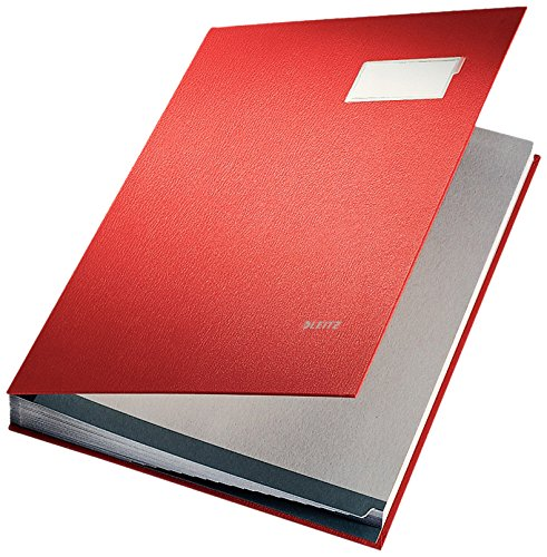 (Leitz Signature Book 20 Compartments Durable Blotting Card 340x240mm Red Ref 5700-00-25)