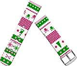 Iwatch 2 42mm Strap Christmas,Series 1/2/3 Sport & Edition Apple Watch Strap Replacement 42mm Christmas Tree Design Green Print Gift