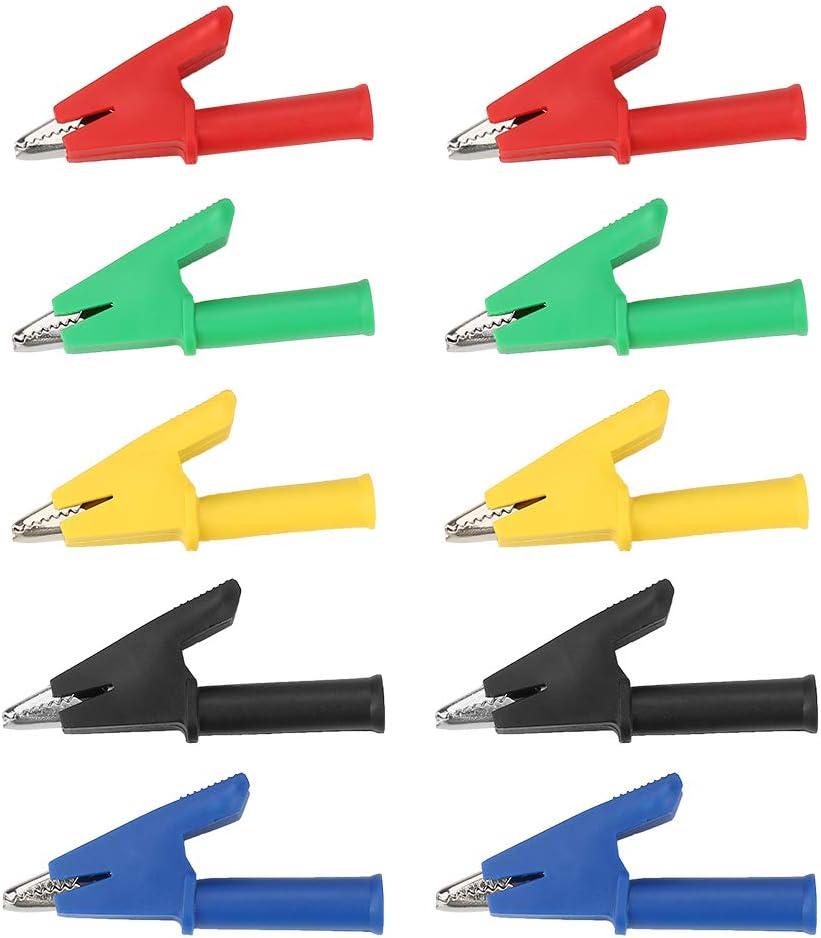 10 unids//set P2002 20A 5 colores 4 mm Banana Jack cocodrilo aislado prueba de seguridad clip pinza de cocodrilo sonda