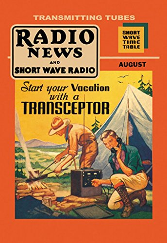 (ArtParisienne Campground Transceptor, Radio News and Short Wave Radio 12x18 Poster Semi-Gloss Heavy Stock Paper Print)