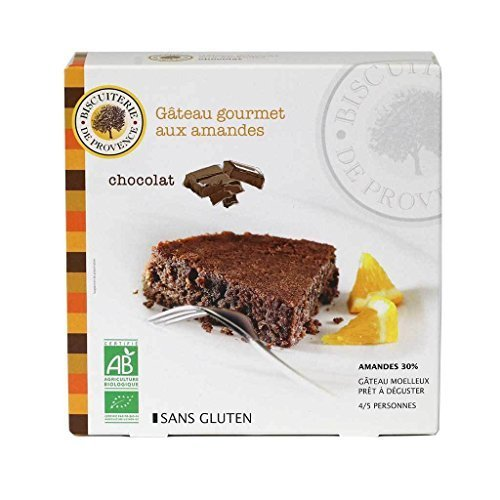 Biscuiterie de Provence, Organic Chocolate Almond Cake (Gluten-Free, Flourless) | Ready to Eat | Made in France, 230 Grams (8.5 Ounces)