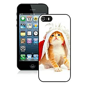 2014 Latest Iphone 5S Protective Cover Case Christmas Cat iPhone 5 5S TPU Case 48 Black