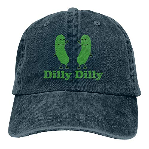 (Qevenon-08 Men's/Women's Dilly Dilly Dancing Twin Dill Pickle Yarn-Dyed Denim Baseball Cap Adjustable Hat )