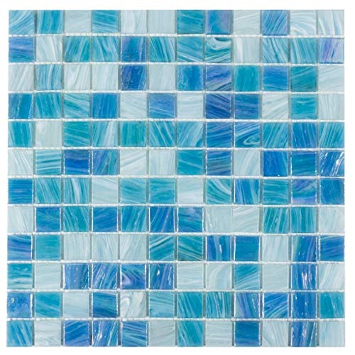 Mosaic Tile Outlet MTO0033 | Classic Uniform Squares Dark Blue Glossy Glass Tile