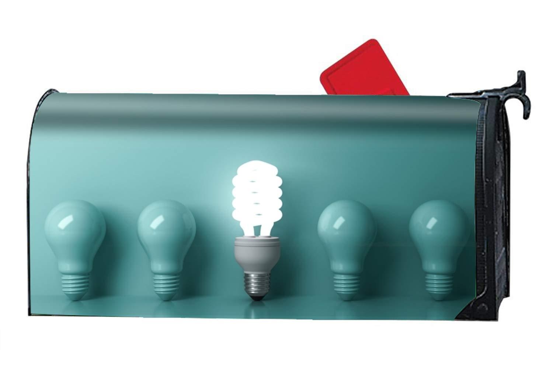 OHFSCTN The Light Bulbs - Mailbox Makeover - Vinyl Magnetic Cover