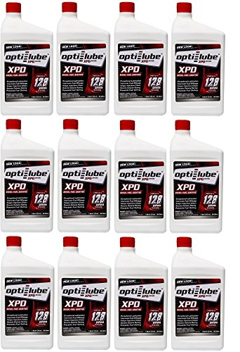 Opti-Lube XPD Formula Diesel Fuel Additive: Quart, Case of 12 Treats up to 128 Gallons per Quart