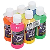 22-2806 Sargent Art Fluorescent Acrylic Paint Set, 4 Ounce, 6-Pack