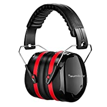 Ear Muffs Tsumbay Noise Reduction SNR 34dB Professional Adjustable Headband Noise Cancelling Ear Defenders Ideal for Shooting Shooters,Worksite,Gun Range Or Race Track Hearing Protection