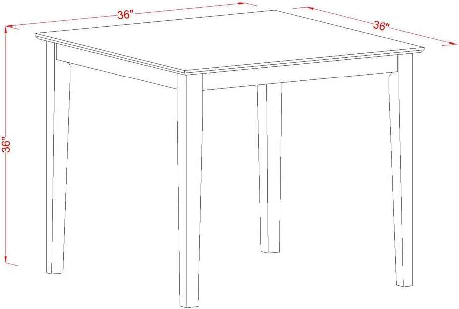 East West Furniture VERN3-MAH-C 3-Piece Counter Height Table Set