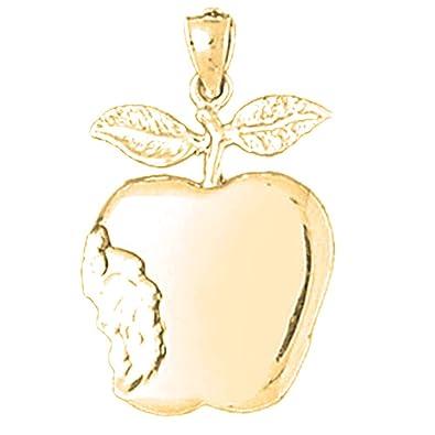 Amazon 14k yellow gold apple pendant 26 mm jewelry 14k yellow gold apple pendant 26 mm aloadofball Image collections