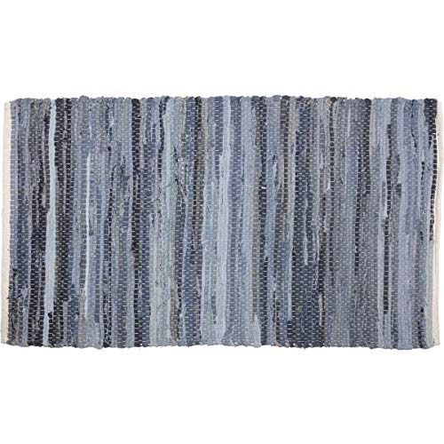 VHC Brands 15064 Denim & Hemp Chindi/Rag Rug, 2'3
