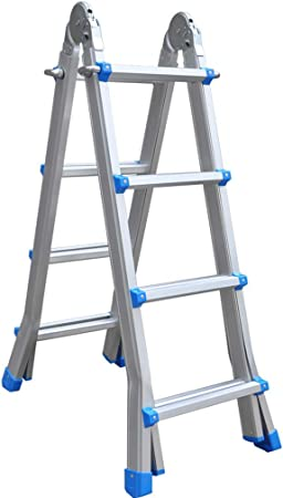 Hongsheng Escalera Plegable de Aluminio multifunción/Engrosamiento del hogar Tipo Escalera/Escalera de elevación portátil,2: Amazon.es: Hogar
