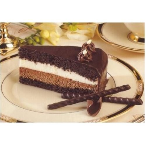 Lawlers Desserts Colossal White and Dark Chocolate Mousse Cake, 87 Ounce -- 4 per case.