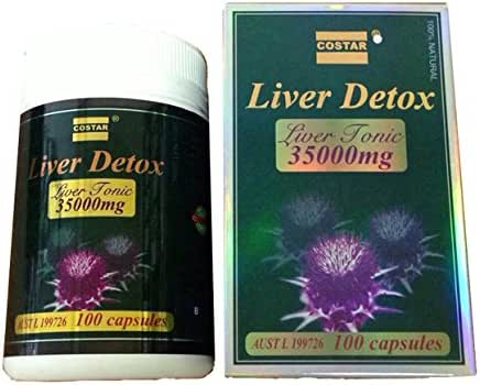 Costar Liver Detox Liver Tonic 35000 mg 100 Capsules Made in Australia