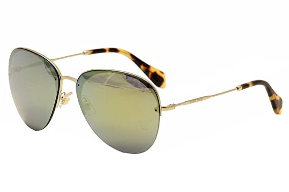 eba9dac61e2 Miu Miu 53PS ZVN4J2 Gold 53Ps Aviator Sunglasses Lens Category 3 Lens  Mirrored