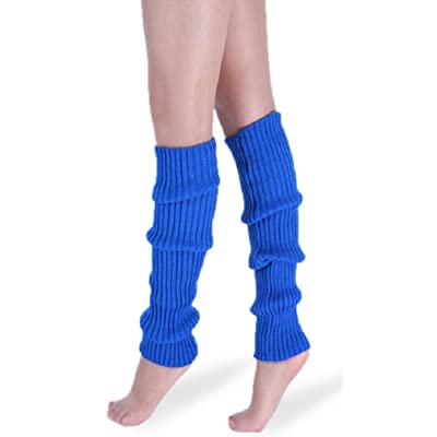 daisysboutique Retro Unisex Adult Junior Ribbed Knitted, Blue, Size One Size: Clothing