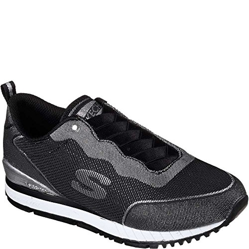 Skechers Womens Sunlite-Slip N Shine Fashion Sneakers Black/Silver 7.5 B(M) US Md4Om