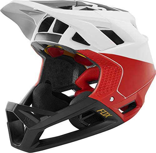 Fox Racing Proframe Helmet Pistol White/Black/Red, L