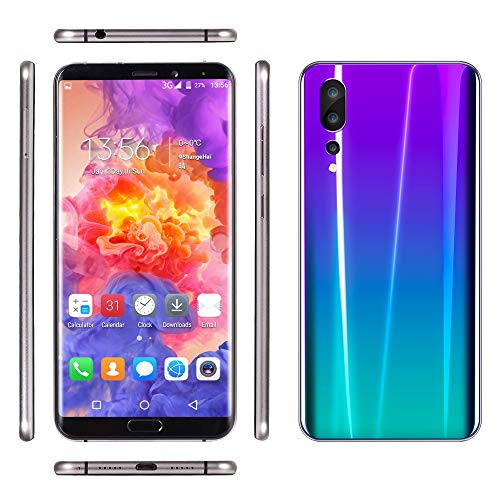 (Finedayqi ❤ Eight Cores 6.1 inch Dual HD Camera Smartphone Android 8GB Dual SIM Mobile Phone (Purple))