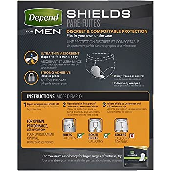 Amazon Com Depend Shields For Men Light Absorbency 58