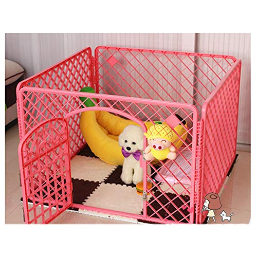 Pink1 909060cm Pink1 909060cm Pet fence, dog fence Teddy dog cage supplies indoor small dog isolation door fence