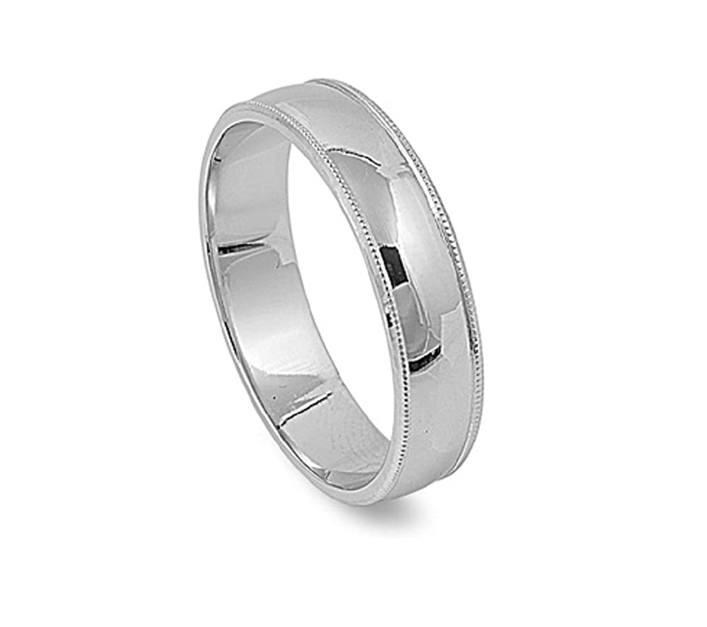Princess Kylie Rhodium Plated 925 Sterling Silver Laced Frame Designer Wedding Band Ring