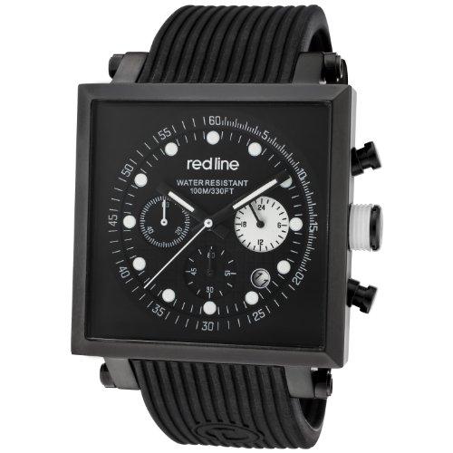 red line Men's RL-50036-BB-01-WA Compressor 2 Chronograph Black Dial Black Silicone Watch ()