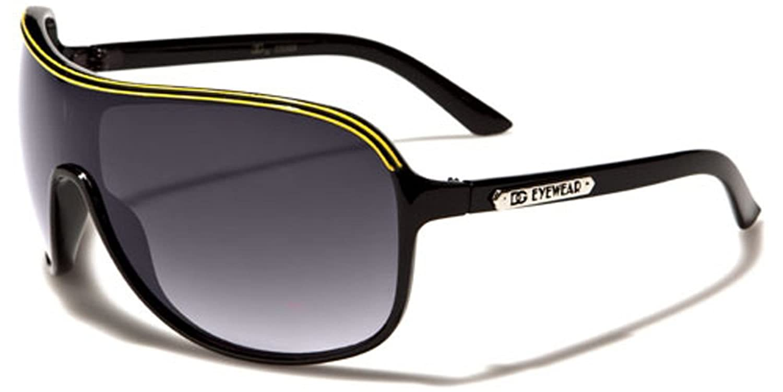 DG Eyewear Oversized Men's Shield Aviator Sunglasses