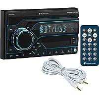 Planet Audio PB455RGB 2-DIN Digital Media Bluetooth AM/FM Car Stereo + Free AUX