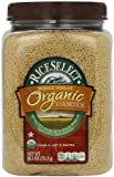 RiceSelect Organic Whole Wheat Couscous, 26.5-Ounce Jars (Pack of 4)