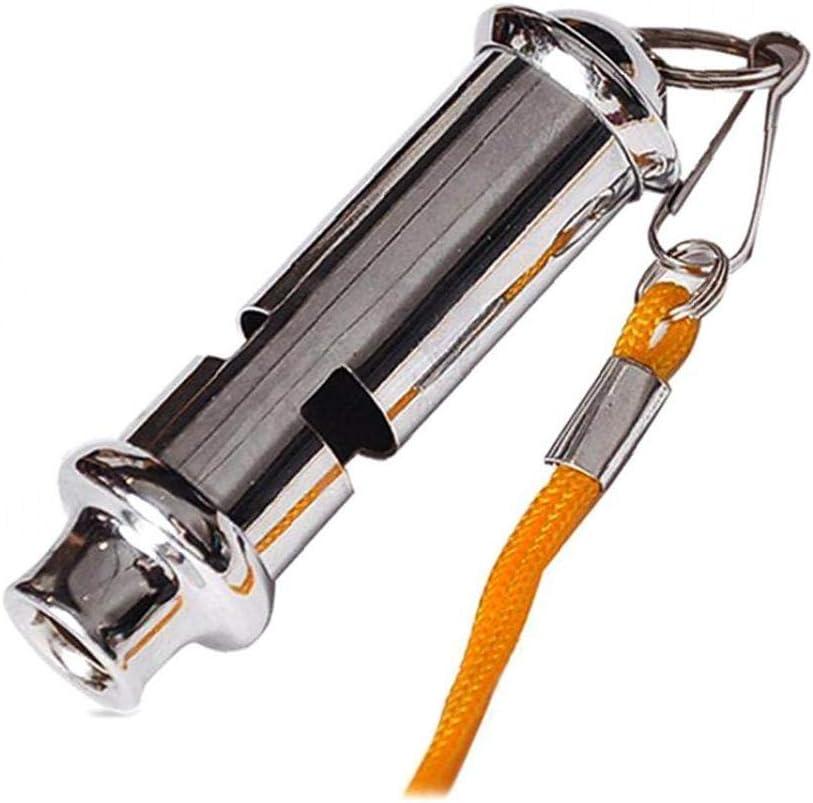 Forte strumento di formazione Fischio del metallo del tubo di emergenza del fischio Pet esterna portatile di sicurezza Fischietto