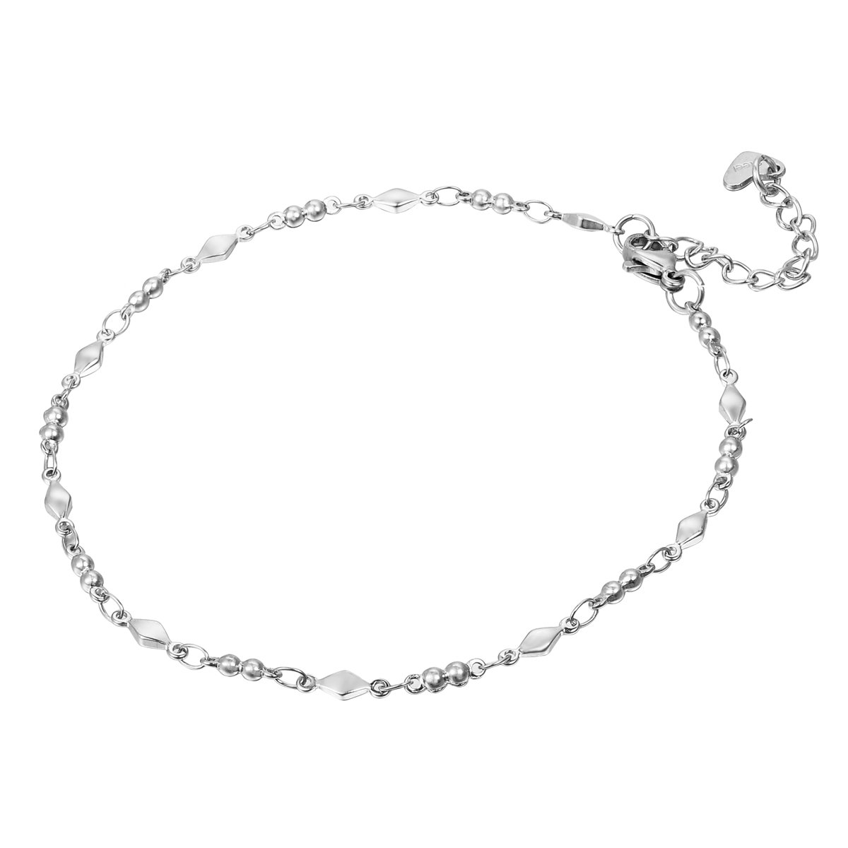 HOUSWEETY Stainless Steel Link Ankle Chain with Lobster Clasp HOUSWEETYB106657