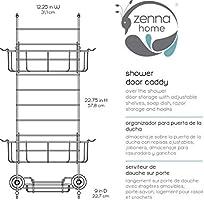 Zenna Home 7803SS Over-The-Shower Door Caddy Chrome