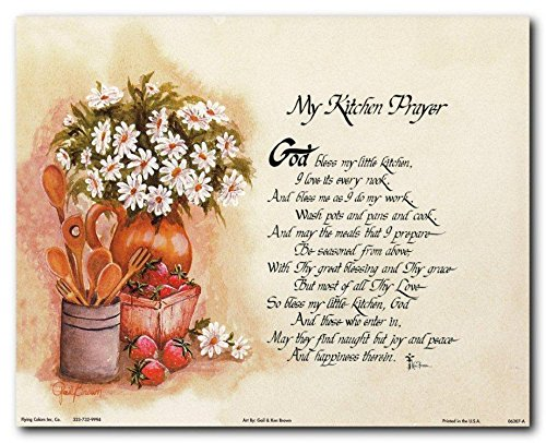 Wall Decor My Kitchen Prayer Art Print Poster (8x10)