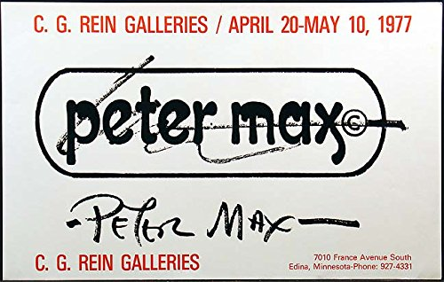 Peter Max Vintage Gallery Poster from 1977 Collectable Art Show