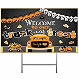 Silly Goose Gifts Welcome to Our Trunk Or Treat ~ Halloween Trick Or Treat Candy Decoration Poster Banner
